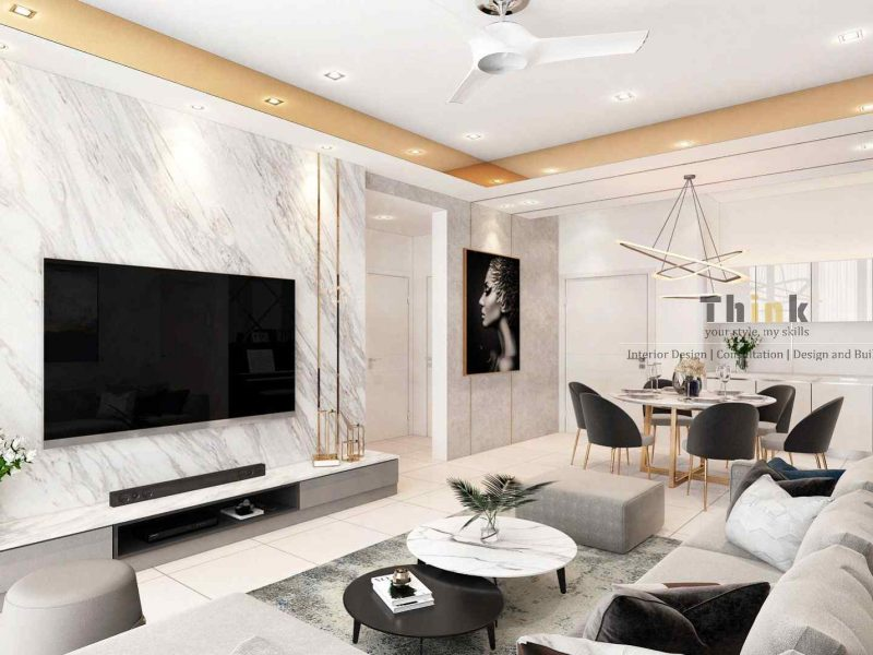 Living and Dining - The Park Sky Residence